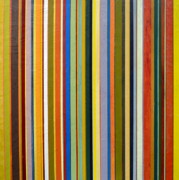 Textural Paintings - Comfortable Stripes by Michelle Calkins