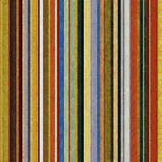 Stripe.paint Prints - Comfortable Stripes V Print by Michelle Calkins