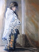 Comanche Paintings - Comforts Edge by Alan Wilcox