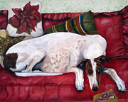 Sight Hound Painting Posters - Comforts of Home Poster by Terry  Chacon