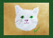 Cat Face Prints - Comic Kitty Print by Andee Photography