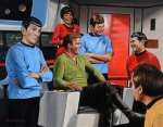 Spock Framed Prints - Comic Relief Framed Print by Kim Lockman