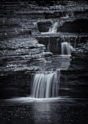 Finger Lakes Photo Metal Prints - Coming Down Gently Metal Print by Evelina Kremsdorf