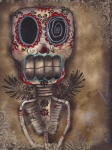 Skull Paintings - Coming for You by  Abril Andrade Griffith
