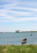 Vineyard Haven Prints - Coming Home Marthas Vineyard Ferry Arrives in Vineyard Haven Masachusetts Print by Michelle Wiarda