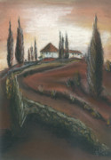 Tuscan Pastels Posters - Coming Home Poster by Shelby Kube