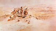 Charles Marion Russell - Coming Of The Hairy Men From The East