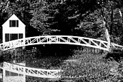 White Arched Bridge Prints - Coming or Going Print by Chad Tracy