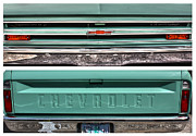 Chevrolet Pickup Truck Posters - Coming or Going--Still a Chevy Poster by David Bearden