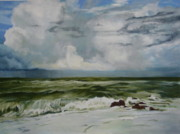 Storm Clouds Paintings - Coming Storm by Norma BLack