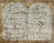 Word Of God Prints - Commandments Print by Cindy Wright