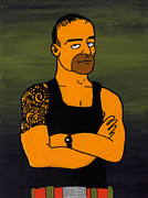 Simpsons Framed Prints - Commando Steve Willis Framed Print by Donna Huntriss