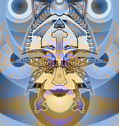 Los Angeles Digital Art Metal Prints - Commemorative Upside Down Masg Art by Topsy Turvy Ambigram Artist L R Emerson II Metal Print by L R Emerson II