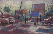 Cities Pastels - Commercial Industrial by Donald Maier