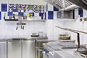 Menu Prints - Commercial kitchen corner Print by Magomed Magomedagaev