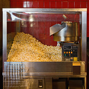 Unhealthy Eating Posters - Commercial Popcorn Machine Poster by Andersen Ross