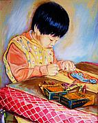Crayola Prints - Commission Portraits Your Child Print by Carole Spandau