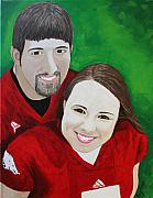 Invitations Paintings - Commissioned Portrait - Brianna and Kevin by Amy Parker