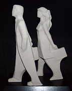 People Sculpture Prints - Commissioned Print by Wayne Headley