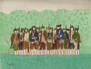 American Revolution Paintings - Committeemen on the Green by Robert Boyette