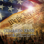 American Flag Digital Art Posters - Common Sense Poster by Evie Cook