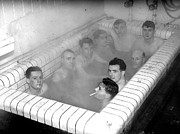 Young Men Prints - Communal Bath Print by Express
