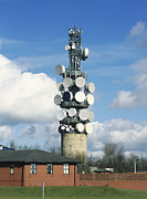 Microwaves Prints - Communications Tower Print by Andrew Lambert Photography