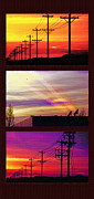 Communications Triptych Print by Steve Ohlsen