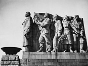 Revolutionaries Prints - Communist Monument In Prague Print by Everett