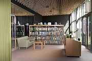Desk Photo Prints - Community Office Library Print by Jaak Nilson