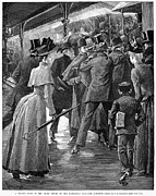 American City Prints - Commuter Rush Hour, 1890 Print by Granger