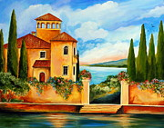 Villa Paintings - Comos villa by Roberto Gagliardi