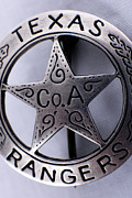 Deputy Prints - Company A Texas Ranger Badge 1 Print by Alan Look