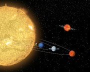 Planetary System Photos - Comparing Planetary Systems, Artwork by Nasajpl-caltech