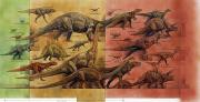 Dinosaurs Posters - Comparison Of Dinosaurs Of Triassic Poster by Roy Andersen