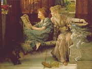 Sisters Painting Metal Prints - Comparison Metal Print by Sir Lawrence Alma-Tadema
