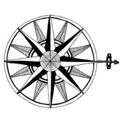 Navigation Drawings - Compass by Karl Addison