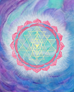 Sri Yantra Paintings - Compassionate Action by Silvia Flores
