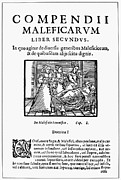Witch Framed Prints - Compendium Maleficarum Framed Print by Granger