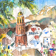 Townscapes Drawings - Competa 01 by Miki De Goodaboom