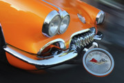Vintage Sport Cars Photo Framed Prints - Competition Orange Framed Print by Tom Griffithe