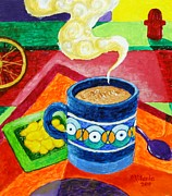 Coffee Shop Painting Posters - Complementary Coffee 2 Poster by Paul Hilario