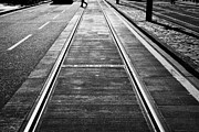 Completed Tram Rails On Princes Street Edinburgh Scotland Uk United Kingdom Print by Joe Fox