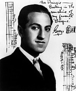 Autograph Framed Prints - Composer George Gershwin  1898-1937 Framed Print by Everett