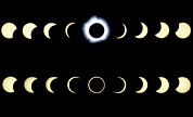 Eclipse Metal Prints - Composite Time-lapse Images Of Solar Eclipses Metal Print by Dr Fred Espenak