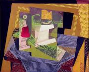 Cubist Paintings - Composition on a Table by Juan Gris