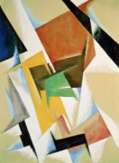 Linear Paintings - Compostion 1921 by Lyubov Sergeevna Popova
