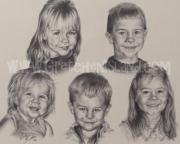 Black And White Photos Drawings - Compton Grandkids by Gretchen Barota