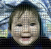 Face Recognition Art - Computer Analysis Of A Smile On A Babys Face by Institute For Neural Computation, University Of California