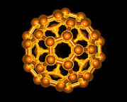 Molecular Graphic Photos - Computer Graphic Of A Buckyball (c60) by Laguna Design